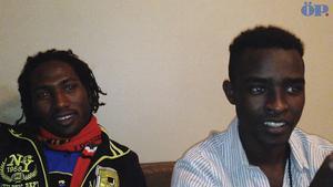 Från vänster: Mubarak Abdallah Ahmed och Mohammed Nin.