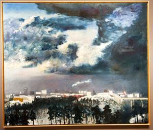 Utställningen med verk av Peter Dahl visas fortfarande på Zornmuseet i Mora.
