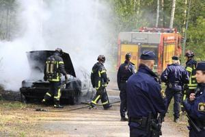 Räddningstjänst och polis var snabbt på plats.
