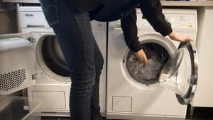 Tvättmaskin.