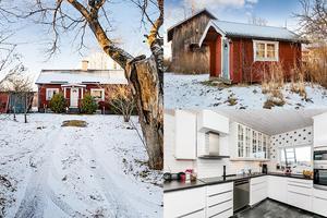 I Dalsjö utanför Borlänge ligger ett litet hus på 61 m² med en liten gård.