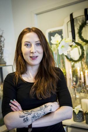 Amanda Högberg driver sedan några månader den miljövänliga blomsterhandeln Miss Magnolia i Sundsvall.