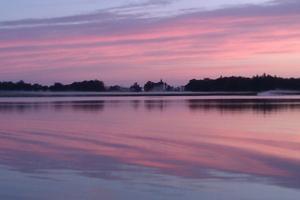 Fisketur med båten en skön söndagsmorgon i augusti.