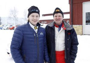 Robin Friberg, 23 år, och Mats Jonsson, 57 år, blev trea respektive etta i LBC-ruschen.