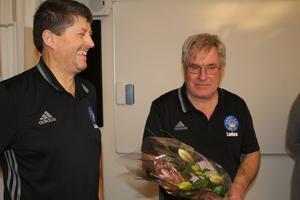 Niko Ljevar och Thommy Gustafsson, ledare i Ekeby BK.