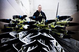 En snörik vinter levereras nästan hälften av alla skidor som säljs i Sverige från Hudiksvall.