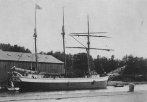 """""""Clara"""" var Gävles sista tremastare och såldes till Estland 1935."""