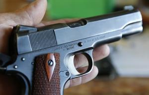 En man i 60-årsåldern har åtalats för vapenbrott.