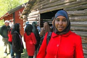 TRIVS. Deego från Somalia gillar både familjedagen och Tierp. Just nu praktiserar hon på fritis och hon vill jobba med barn.