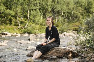"""""""Vi har vandrat i fyra dagar med guide. Det är ganska skönt, allt är redan planerat"""", säger Sara Vesterberg från Vännäs, som besöker Jämtland för första gången."""