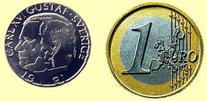 Sverige har sparat 33 miljarder på att stå utanför den gemensamma valutan.  foto: scanpix