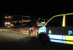 Poliserna var tidigt på plats, men kunde snart återgå till sin övriga patrullering.
