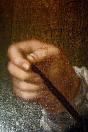 Per Frestares hand målad med lite skit under naglarna.