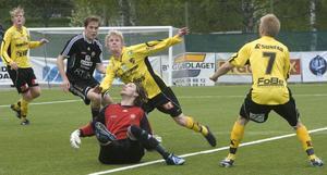 Hudiksvall skapade massor av målchanser mot Brynäs, men fick inte in bollen.