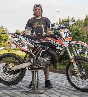 Melker Grönholm, 14, från Ljusdal slutade trea i Dalacrossen.