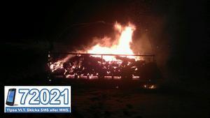 Vid kvart i ett under natten mot söndagen brann majbrasan i Skantzsjön.