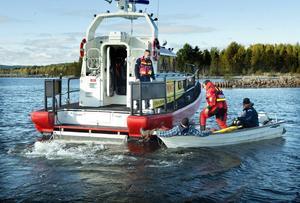 Sjöräddningssällskapet i Sundsvall övar.