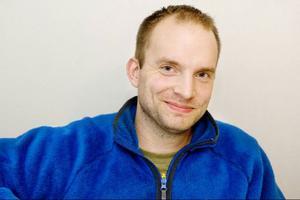 Martin Gulle gillar klättring och håller sig i form genom träning och löpning.