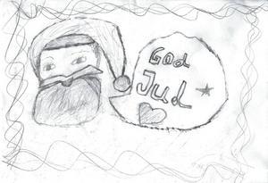 Anette 9år från Gävle, har ritat en teckning till Tomten. God Jul!