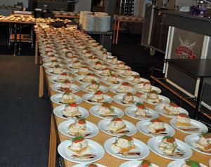 Middagen inleddes med Toast Skalet.