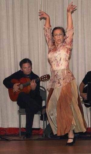 Maria Pröckl stod förden eldiga flamencodansen.