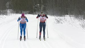 Ulrica Persson, Sunne, och Lisa K Svensson, Åsarna, jagade bakom Lina Korsgren.