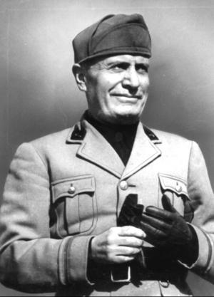 Fascistledaren Benito Mussolini