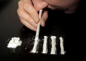 Kokainsniffning, arrangerad bild, ©PRESSENS BILD