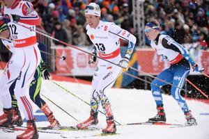 Marcus Hellner orkade inte hela vägen, och missade prispallen på skiathlon under VM i Falun.