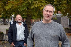 Leif Edh och Lars Svelander håller på att förbereda Företagargalan 2015.
