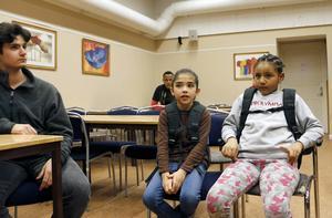 Elias Daoud, Mariam Hashemi och Nancy Amanue.