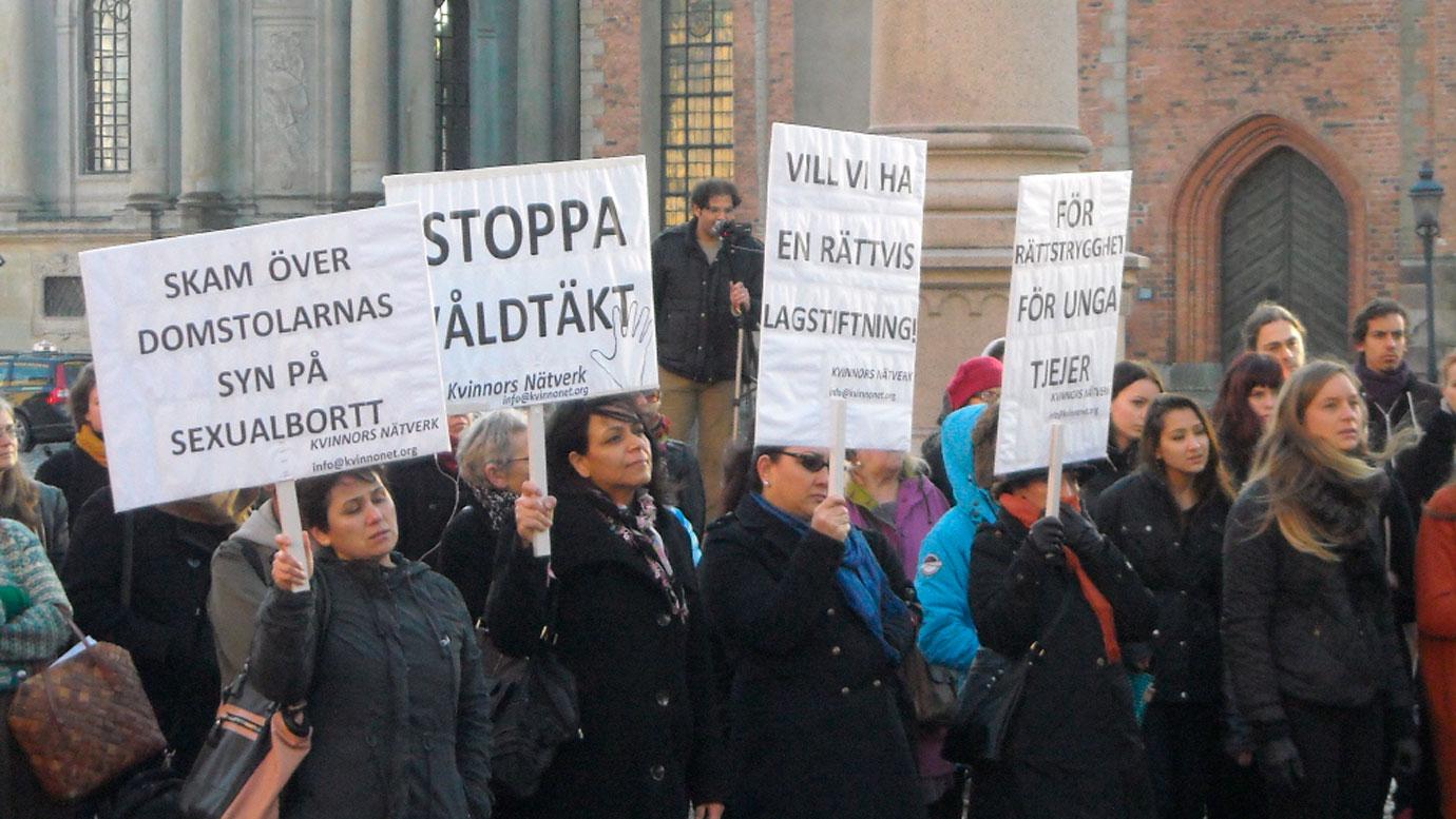 Protest mot friande dom