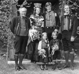 Bröllop i Delsbo från 1970. Foto: arkivbild.