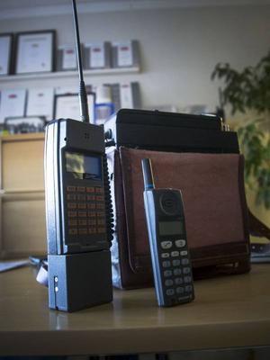Två legendariska mobiler som Bo Paulsson har valt att visa ur sin stora samling.