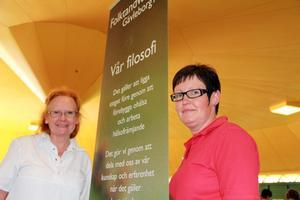 Ella Strömberg och Gunilla Lönngren från folktandvården informerade bland annat om hur mycket socker våra livsmedel innehåller.