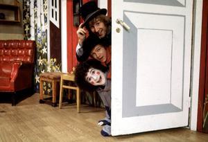 """""""Ville, Valle och Viktor"""". Tre kompartister i ett av 1970-talets mest tidstypiska barnprogram."""