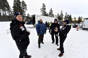 Mattias Hargin redo för stuntscener som bilförare
