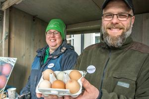 Marléne Ritzén och Tomas Sundvisson visade upp exklusiva varor från Gallina Ovum, en sammanslutning av sex småskaliga äggproducenter.