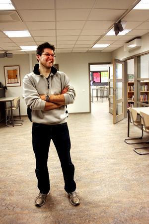 En av de nöjda lärarna i korridor D är Joakim Gillberg.