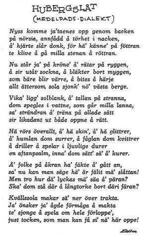 Hubergssången.
