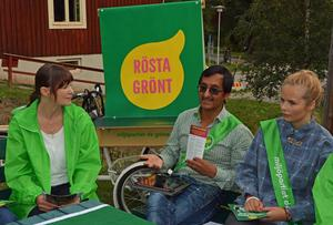 Maria Algotsson. Angel Villaverde och Agnes Johanson vill se ett grönare Sundsvall.