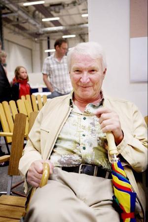 Sten Östman från Brunflo brukar gå på Expo Norr. I år ska han köpa med sig renkalvsylta från mässan.