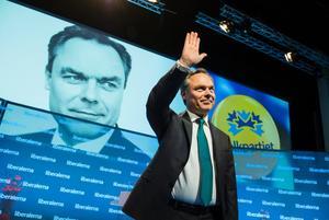 Folkpartiledaren Jan Björklund invigningstalade vid partiets landsmöte i Västerås i går.