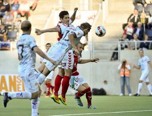 Jacob Hjelte nickade in 3–2-målet för Gefle sent i den andra halvleken.