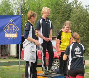 HIE 13, med guld till Lucas Gulin Gävle BK, silver till Emma-Moa Almström Gävle BK och brons till Ida Lundberg, Jämtlands BSK