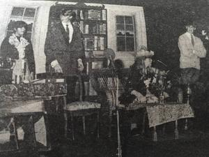 My fair lady sattes upp på Hudiksvalls teater våren 1983 och drog fulla hus. Jon-Karl Sundh hade en av huvudrollerna som professor Higgins, till höger. Från vänster ses Eva From som Mrs Pierce, Mattias Hagman som Pickering och Marielle Anteskog som Eliza.