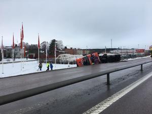 Olyckan inträffade vid klockan 10.49 på tisdagsförmiddagen.