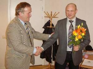 Per Söderberg tackar Anders Edvinsson för gott samarbete.
