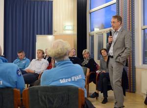 Jörg Bessek från friluftsfrämjandet bedyrade att ett samarbete är värdefullt mellan Idre Fjäll och andra anläggningar.
