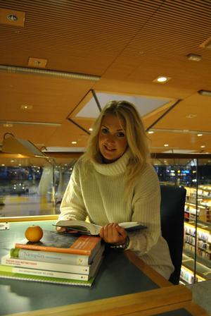 Rebecka Berglund stortrivs med tillvaron som student i Karlstad.